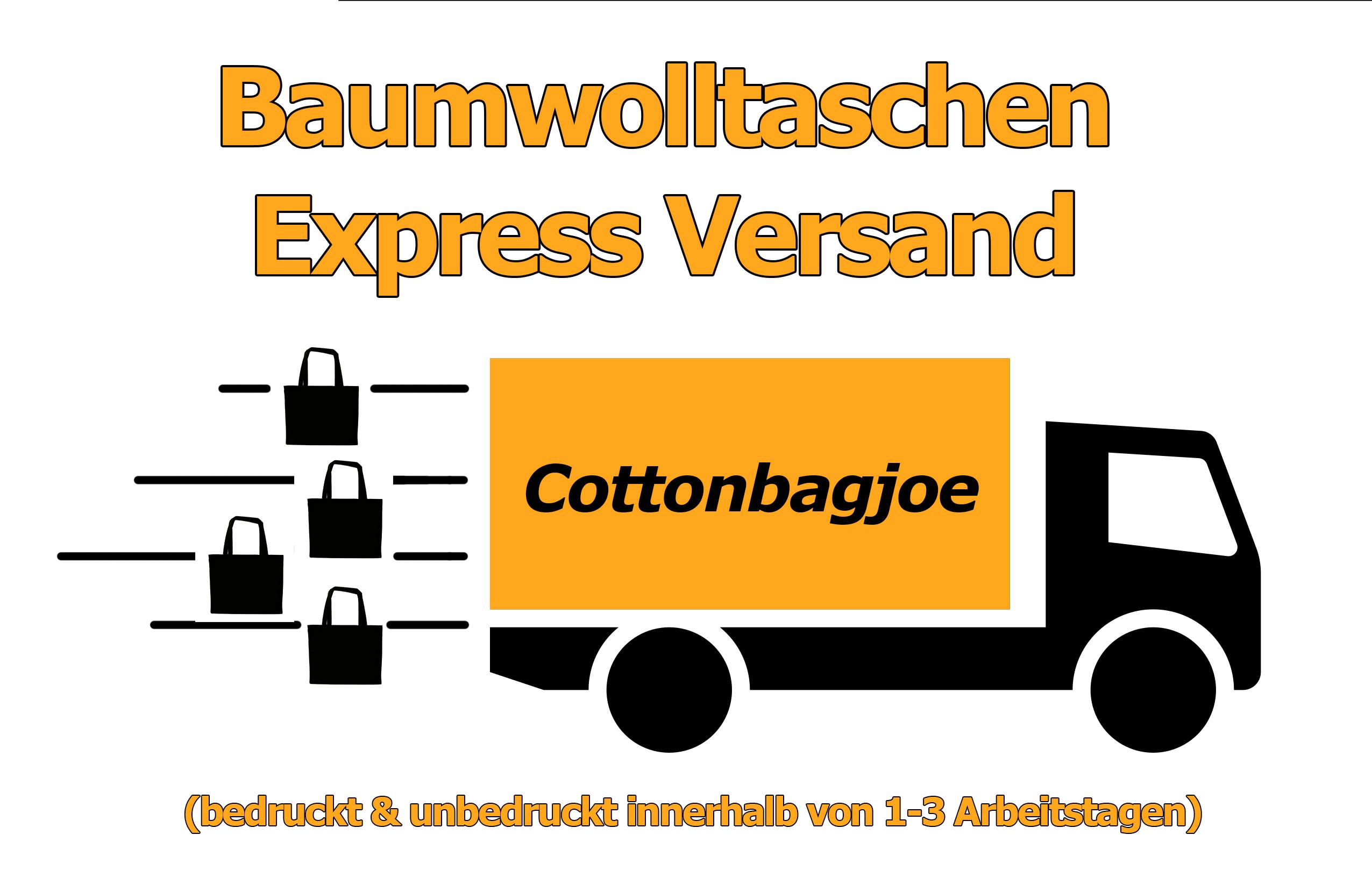 Baumwolltaschen bedrucken Express Versand Cottonbagjoe Bestellung